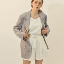 [BREEZE] Belted Short Pants[WHITE](CTD1)
