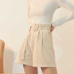 [BREEZE] Belted Short Pants[IVORY](CTD1)