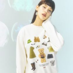 [CITY] Celeb Bear Sweatshirt[IVORY](CTD1)