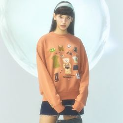 [CITY] Celeb Bear Sweatshirt[ORANGE](CTD1)