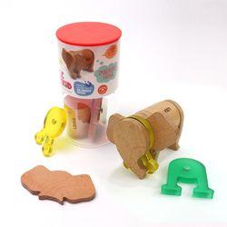(레키드) LK5713 파우나 자석 블록 코끼리