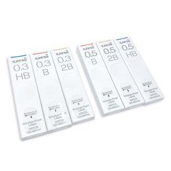 UNI 스머지 프루프 슬라이딩 샤프심 0.3-0.5mm