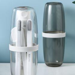 여행용 휴대용 양치컵 투명 치약칫솔케이스