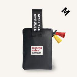 마약 스트랩 파우치 레더 - Black