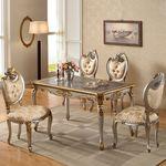 럭셔리 유럽명품 고급 슈린B 4인 엔틱식탁세트 테이블