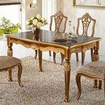 럭셔리 유럽 명품 고급 로즈 4인 엔틱식탁 테이블
