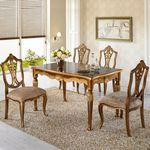 럭셔리 유럽 명품 고급 로즈 4인 엔틱식탁세트 테이블
