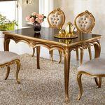럭셔리 유럽 명품 고급 시모 4인 엔틱식탁 테이블