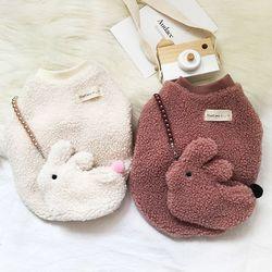 뽀글이 토끼 후리스 가방 세트