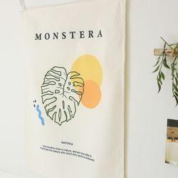 몬스테라 인테리어 패브릭 포스터 고리형