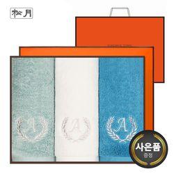송월 항균 에이스 170g 3매 선물세트(쇼핑백) 단체수건 답례품