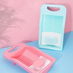 미니멀 간편형 빨래판 핑크 1개