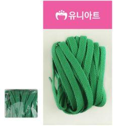 유니아트 (운동화끈) 1000 넓적 신발끈 (초록)