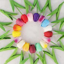 튤립 조화 부케 꽃 장식 인테리어 플랜테리어(10송이)