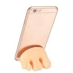 발가락 다용도 흡착식 칫솔 홀더 걸이 스마트폰 거치대