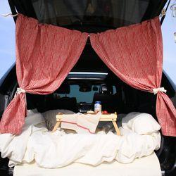 포홈 에스닉 차박 트렁크 커튼 2color