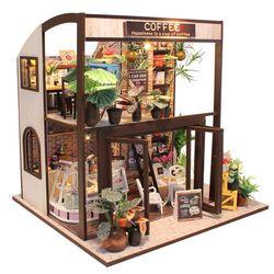 DIY 미니어처 하우스 (난의도 상) -M027로맨틱 커피숍