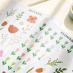 다꾸 꽃 튤립 스티커 다이어리 꾸미기 노트북 폰케이스