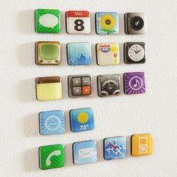아이폰 앱 어플 모양 마그넷 냉장고 자석 18p set