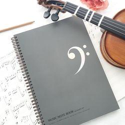 A4 음악노트(작곡노트 오선노트) 60매 - 낮은음자리표