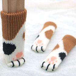 의자다리커버 고양이발 의자발 4p 1set