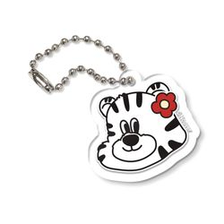 FLOWER TOBY FACE-CLEAR(KEYRING)
