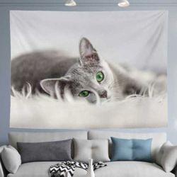러시안블루 고양이 월데코 패브릭포스터 (소-100X75)