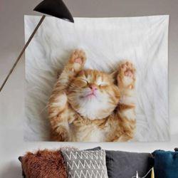 발라당 치즈 고양이 월데코 패브릭포스터 (소-100X75)