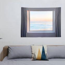 인테리어 창문 벽 포스터 바다 석양 우주 대형 패브릭
