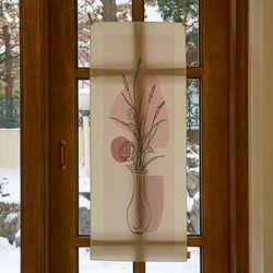 꽃병 일러스트 세로형 패브릭 포스터 . 바란스커튼
