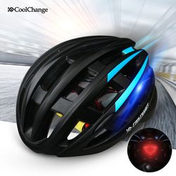 CoolChange 고밀도EPS 후미등 일체형 자전거헬멧