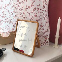 원목 탁상 거울 우드 회전 접이식 책상 탁상용