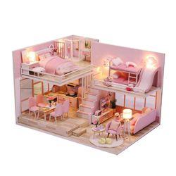 [adico]DIY 미니어처 하우스 - 핑크 러브