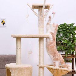 조립식 고양이 3층 럭셔리 캣타워