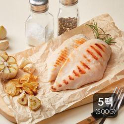 [신선하닭] 소프트 닭가슴살 갈릭맛 500g(100g 5팩)