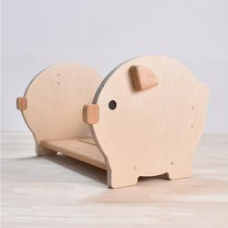 유아 책꽂이 아기 돼지 두근 (거치대 겸용)