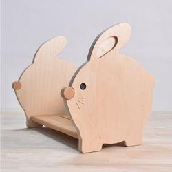 유아 책꽂이 아기 토끼 꽁꽁 (거치대 겸용)