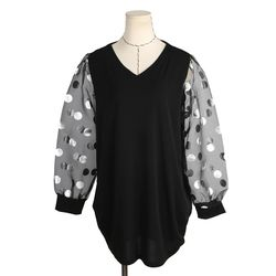 [네오쿠비카]빅사이즈 끈 라운딩 카라 티셔츠 BLK334