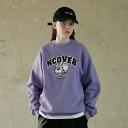 TOBY FACE ARCH LOGO SWEATSHIRT-LIGHT PURPLE