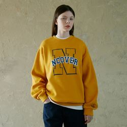 N LINE LOGO POINT SWEATSHIRT-YELLOW