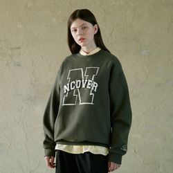 N LINE LOGO POINT SWEATSHIRT-KHAKI