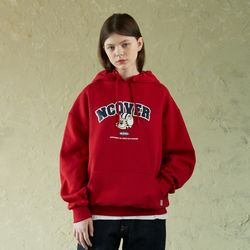 TOBY FACE ARCH LOGO HOODIE-RED