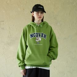 TOBY FACE ARCH LOGO HOODIE-OLIVE GREEN
