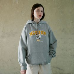 TOBY FACE ARCH LOGO HOODIE-GREY