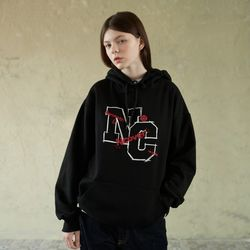 NC LINE LOGO POINT HOODIE-BLACK