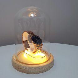 유리돔 무드등 (시계진열장  부케말리기)  일반형 중형