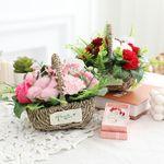 어버이날 선물 비누꽃 도로시 카네이션 바구니+브로치