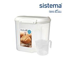 시스테마 베이크잇 저장용기컵 2.4L(쌀밀가루 견과류 보관용기)