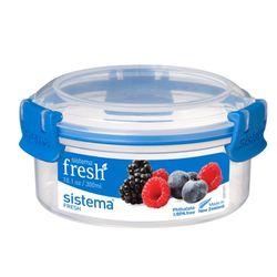 시스테마 프레쉬 블루 원형 보관용기 300ml