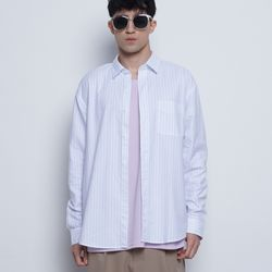 M715 oxford basic stripe shirts white